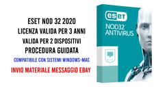 Eset Nod 32 Antivirus 2020 (2 Dispositivi) 3 anni Global