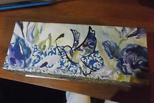 decorative box with multi - colored flowers & birds