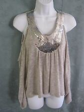 Charlotte Russe Knit Tank Size XS Draped Sequined NWT Dolman Sleeve/ Sleeveless