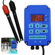 pH ORP Redox 2 in 1 Controller Monitor BNC Electrode Probe Water Quality Meter