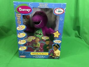 NIB Playskool eSpecially My Barney Talking Singing Plush Stuffed 2000 Vintage