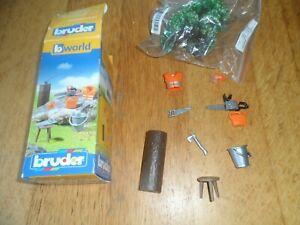 Bruder Bworld Lumberjack Equipment (Complete) Box Set Childrens Toy Scale 1:16