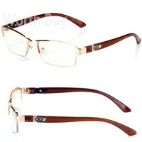 New WB Mens Womens Clear Lens Frame Glasses Designer Fashion Optical RX Half Rim
