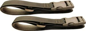 """2 straps Cargo Lashing Straps 48"""" Long Lashing Straps Coyote with 1"""" SR Buckle"""