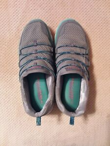 Skechers memory foam womens 8.5 Gray, Mint Green And White Athletic Shoes