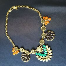 Women's Gold Tone Pendant Necklace Boho Chic Southwester Glass Beads Crystals