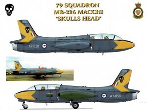 1/48 RAAF Decals; Macchi MB.326H 79 SQN Skull Tail