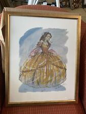 Ann Hould-Ward RARE SIGNED BROADWAY COSTUME SKETCH Disney's BELLE  w/COA
