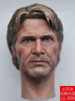 Free Shipping 1/6 scale new Star wars old Han Solo Head Sculpt Harrison Ford AU