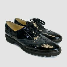 Brunate Italian Patent Leather Oxford Loafer Shoes Black 39 US 8.5