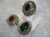 """HEIDI DAUS """"Enchante"""" (Red) Magnetic Pendant (Size 10) Ring Set (HSN-$159.95)"""