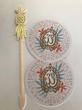 NEW Disneyland Club 33 Logo 'Summer of Tiki' Swizzle Stick + Coaster Pair