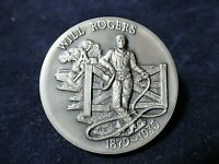 Will Rogers in Vaudeville Silver Medal, Gorgeous Deep Engraving 1.1+ Ozt