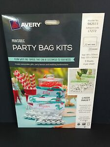 Avery Printable Party Bag Kits 20pk (982511)