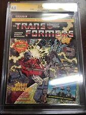 TRANSFORMERS Marvel UK #1 CGC SS Comic Book U.K. Magazine First Appearance Rare