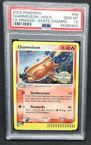 Charmeleon 99/97 Holo Pokemon EX Dragon State Championships - PSA 10