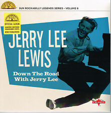 "JERRY LEE LEWIS - DOWN THE ROAD WITH (10 trax  10"" VINYL LP - SUN 50s ROCKABILLY"
