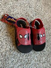 New Toddler Boys' Marvel Spider-Man Sandals Water Shoe Flip Flop Red size 7/8