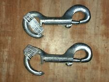 "Lot of 2 National Hardware N237-867 3/8"" X 4 1/4"" Zinc Plated Open Bolt Snap"