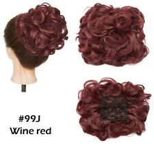 Comb Clip In Curly Hair Extension Synthetic Hair Pieces Chignon Women Updo Cover
