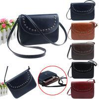Women Handbag Casual Shoulder Bags Tote Rivet Leather Messenger Bag CrossBody
