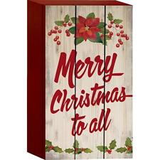 """MERRY CHRISTMAS TO ALL Distressed Wood Box Sign, 4.5"""" x 8"""", by P. Graham Dunn"""