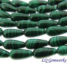 "15.5"" Strand Natural  MALACHITE 7x15mm Teardrop Beads"