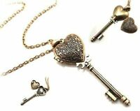 Key Locket Unusual Gift for her mother Daughter Sister Embossed Heart Wife Love