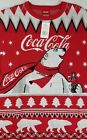 Mens Size L Large Coca Cola Ugly Christmas Sweater Polar Bear **NEW WITH TAGS**