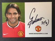 More details for radamel falcao hand signed manchester united club card very rare man utd