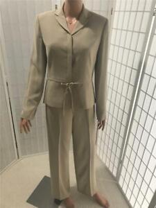 Women's  Ann Taylor 4 Oak Tan Business Pant Suit