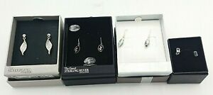 4 X Pairs Of  Earrings In Original Boxes Marks & Spencer & Jonathan Geeves