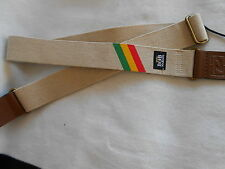 BOB MARLEY ZIG ZAG HEMP ADJUSTABLE DUNLOP ELECTRIC,ACOUSTIC,BASS GUITAR STRAP