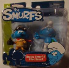 Smurfs Brainy and Pilot Smurf 2 pack figures movie
