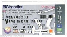 Billet  / Place  OM Olympique de Marseille - FCGB vs OM  ( 004 )