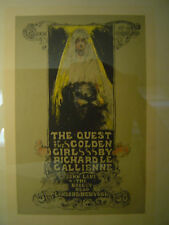BOOK POSTER Richard Le Gallienne QUEST OF THE GOLDEN GIRL Ethel Reed NICE!