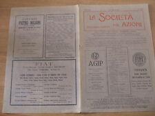 LA SOCIETA' PER AZIONI n.15-16 del 1931 Pubblicità FIAT AGIP Marelli ecc.
