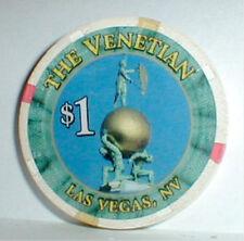 $1 Chip The Venetian  Casino Las Vegas Nevada 1997-Current info+Casino History