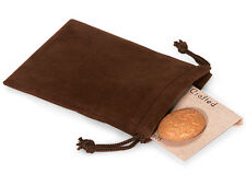 50 BROWN 5x7 Jewelry Pouches Velour Velvet Gift Bags