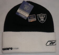 OAKLAND RAIDERS REEBOK BEANIE YOUTH LADIES TEEN OR SM MEN WINTER KNIT CAP SNOW