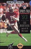 Sports Talk Football '93 Starring Joe Montana (Sega Genesis, 1992)