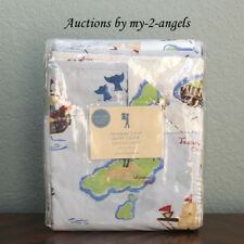 NEW RARE Pottery Barn Kids TREASURE COVE / PIRATE MAP Twin Duvet Cover!