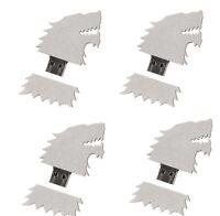Game of Thrones 4 BFF Lot Set 4GB USB Flash Drive House Stark Sigil Direwolf HBO