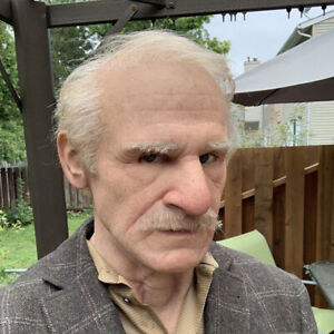 Realistic Latex Old Man Mask Male Disguise Fancy the Elder Masquerade HeadgearHW