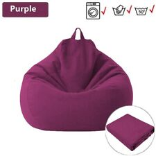 Washable Lazy Bean Bag Sofa Cover without Filler Living Room Asiento Couch Chair