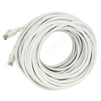 30M 100FT RJ45 CAT5 CAT5E Ethernet LAN Network White Patch Cable Cord New