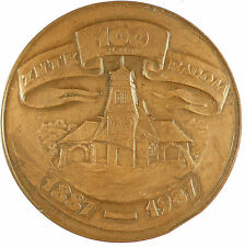 1987 Poland POLISH COMMEMORATIVE MEDAL 100th Anniversary bronze 70mm