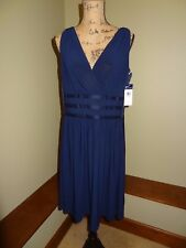 New Chaps Women's Dress, Size 14, Color Dark/Navy Blue