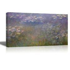 "Water Lilies by Claude Monet - Canvas Print Wall Art - 18"" x 36"""
