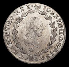 AUSTRIA. Joseph II, Silver 20 Kreuzer, 1789